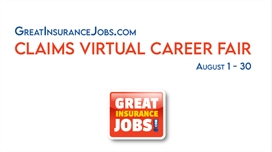 GreatInsuranceJobs.com Virtual Insurance Claims Career Fair Featuring Over 35 Insurance Employers Hiring During COVID-19