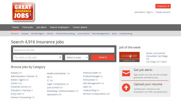 The New GreatInsuranceJobs.com Website  is LIVE!