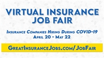 GreatInsuranceJobs.com Virtual Job Fair for Employers Who are Hiring During COVID-19 (Coronavirus) April 20th-May 22nd